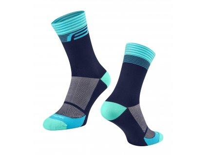 ponožky FORCE STREAK, modro tyrkysové
