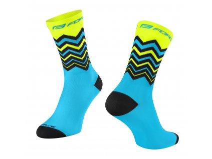ponožky FORCE WAVE, fluo modré