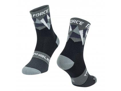 ponožky F TRIANGLE, černo šedé