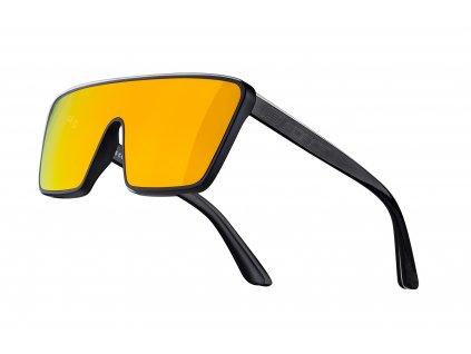 brýle FORCE SCOPE,černé mat lesk,oranžová zrc.skla
