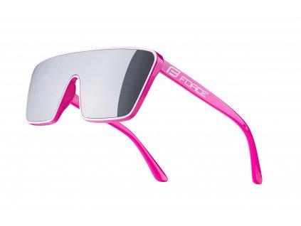 brýle FORCE SCOPE, růžovo bílé, černá zrc. skla
