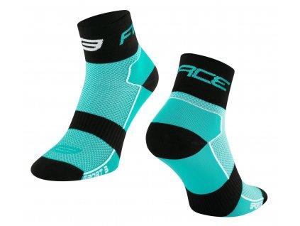 ponožky FORCE SPORT 3, tyrkysovo černé