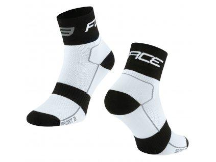 ponožky FORCE SPORT 3, bílo černé