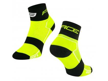 ponožky FORCE SPORT 3, fluo černé