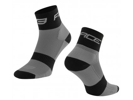 ponožky FORCE SPORT 3, šedo černé