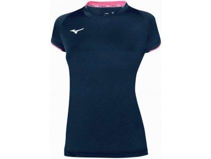 dámské tričko Mizuno Core SS Navy Pink Fluo