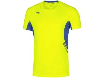 Pánské tričko Mizuno Premium JPN Tee Yellow Fluo Royal