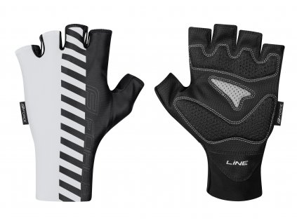 rukavice FORCE LINE bez zapínání, bílo černé