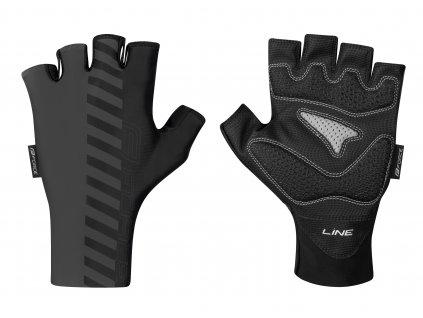 rukavice FORCE LINE bez zapínání, šedo černé