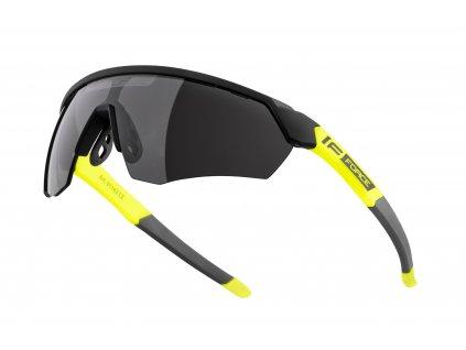 brýle FORCE ENIGMA černo fluo mat., černá skla