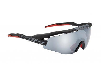 brýle FORCE EVEREST, černé mat, černé zrc. skla