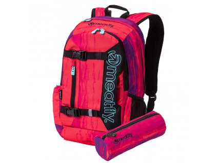 Batoh MEATFLY Basejumper 5 + POUZDRO H Ambient Pink, Black