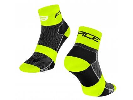ponožky FORCE SPORT 3, černo fluo