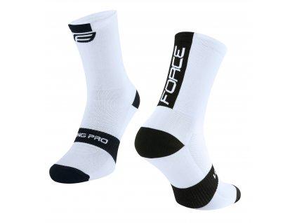 ponožky FORCE LONG PRO, bílo černé