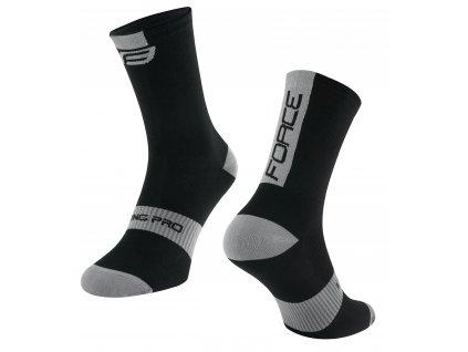 ponožky FORCE LONG PRO, černo šedé