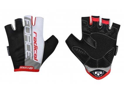 rukavice FORCE RADICAL, černo bílo červené