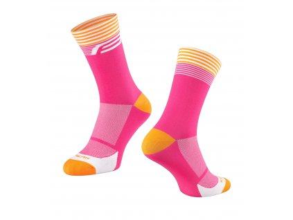 ponožky FORCE STREAK, růžovo oranžové