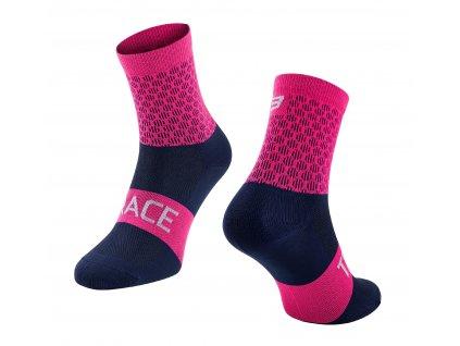 ponožky FORCE TRACE, růžovo modré