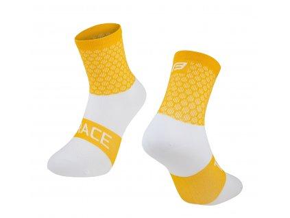 ponožky FORCE TRACE, žluto bílé