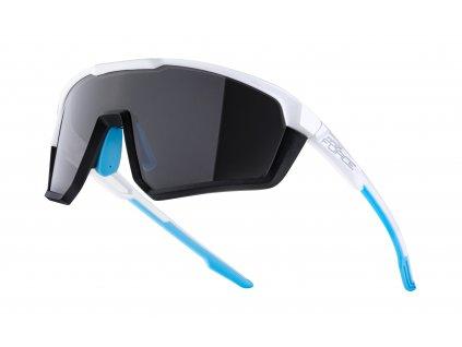 brýle FORCE APEX, bílo šedé, černé skla