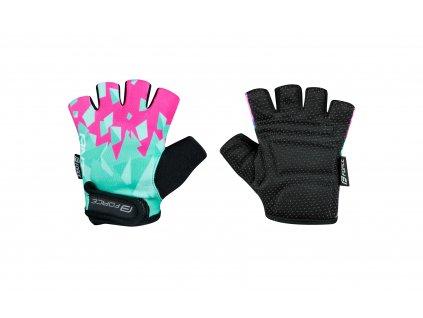 rukavice F ANT KID, tyrkysovo růžové