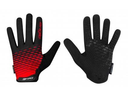 rukavice FORCE MTB ANGLE letní,červeno černé