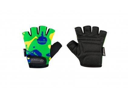 rukavice F PLANETS dětské, zeleno žluté