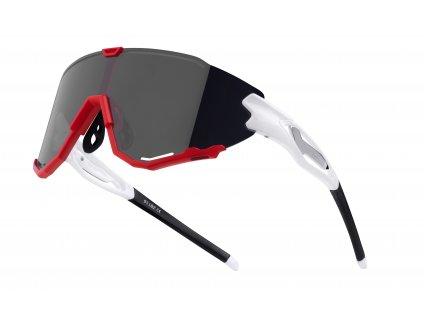 brýle FORCE CREED bílo červené, černá zrc. skla