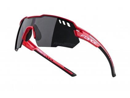 brýle FORCE AMOLEDO, červeno šedé, černé skla