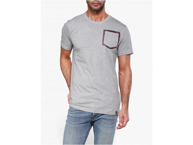 Adidas Pocket Outline Grey Maroon