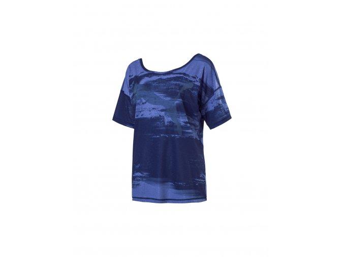 Puma Dancer Drapey Tee Blue White Element Print