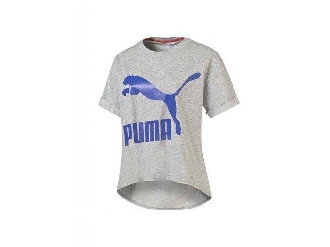 Puma Story Tee Light Gray Heather