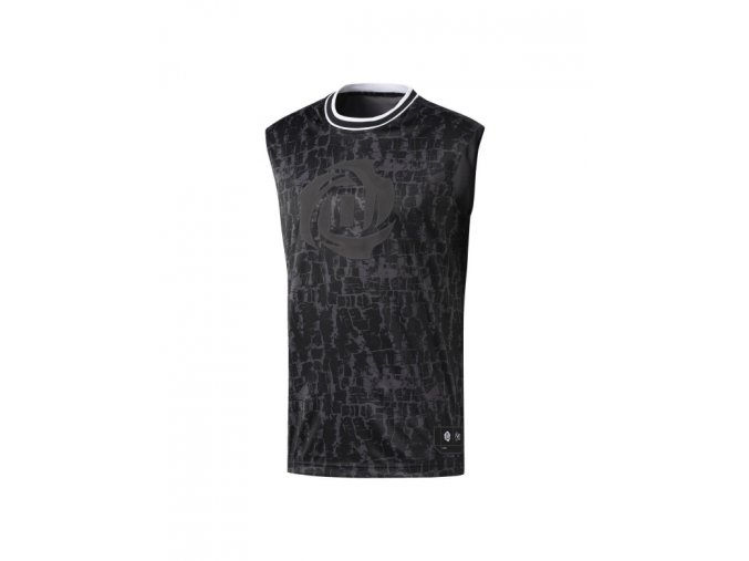 Adidas Rose S L Tee Black Noir