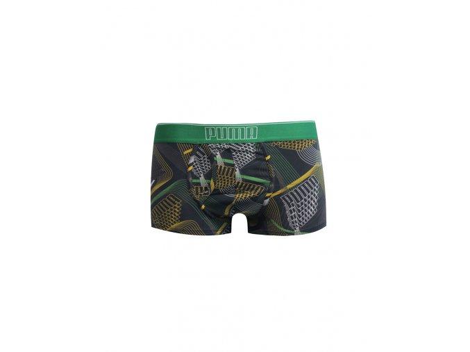 Puma Men Short Boxer 1-Pack Black Green Short