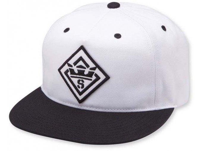 Supra Stncl Ptch Slidr Hat Black/White