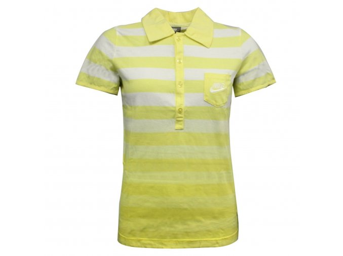 Nike Active Polo White-Yellow