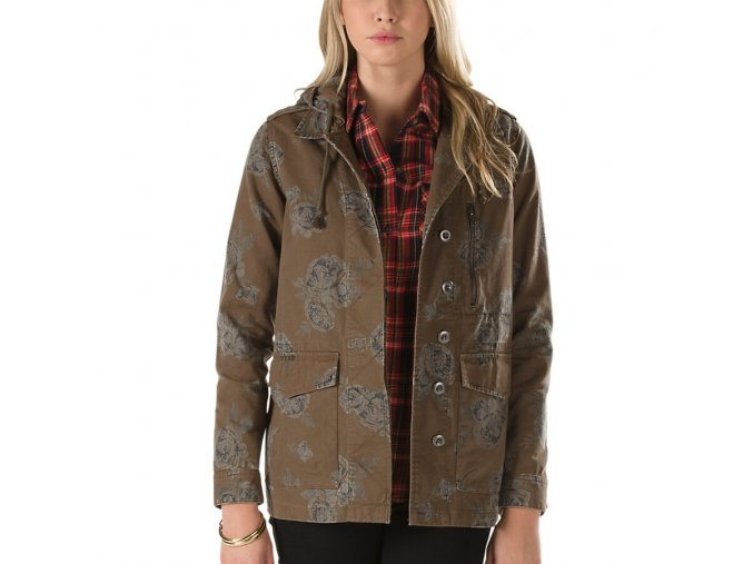 Vans Off The Wall Coffey Jacket Floral Canteen