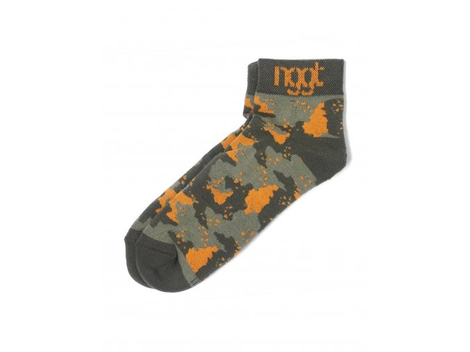 Nugget Camo Socks B - Army/Orange