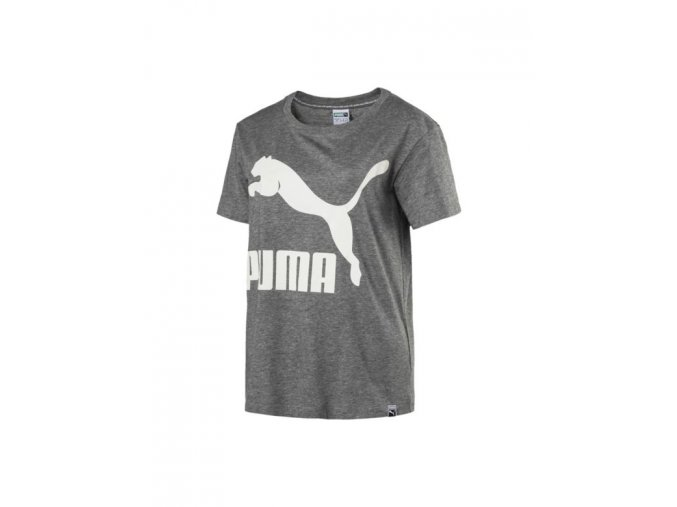 Puma Archive Logo Tee Medium Gray Heather