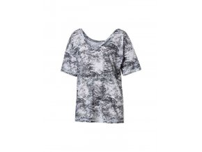 Puma Dance Drapey Tee White Black Nature Print