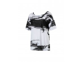 Puma Dancer Drapey Tee Black White Element Print