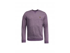 Lyle & Scott Heavy Marl Sweatshirt Blackcurrant