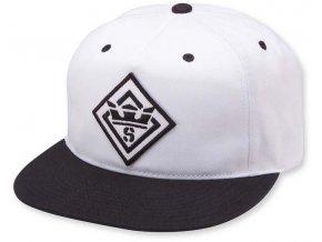 Supra Stncl Ptch Slidr Hat Black White