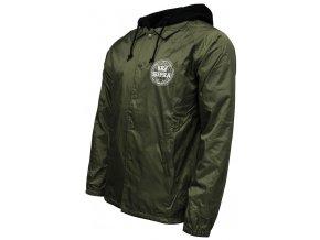 Supra Geo Coaches Hooded military Green1