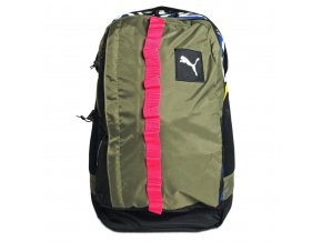 Puma PY Fresh Backpack Bumt Olive Black Graphic