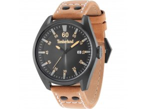 Timberland Bellingham Watch Black Brown Strap