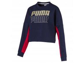 Puma Modern Sport Crew Sweat Peacoat-Gold