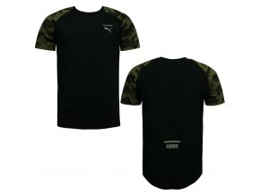 Puma Evo CamoTee Black-Olive Night