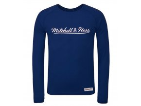 Mitchell & Ness Script Long Sleeve Logo Navy