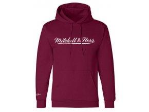 Mitchell & Ness Script Logo Burgundy